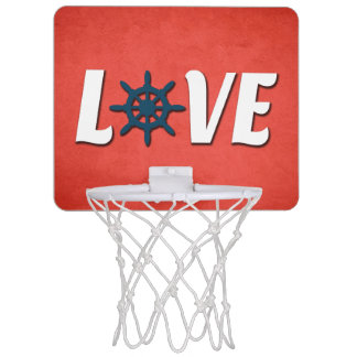 Love nautical design mini basketball hoop