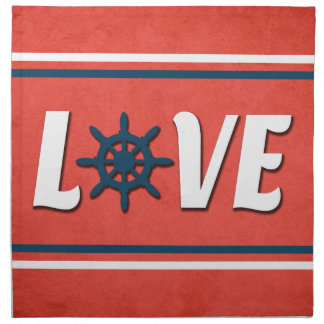 Love nautical design napkin