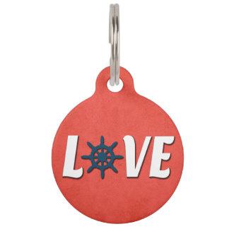 Love nautical design pet name tag