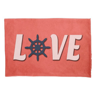 Love nautical design pillowcase