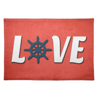 Love nautical design placemat
