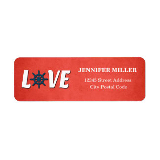 Love nautical design return address label