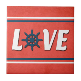 Love nautical design tile