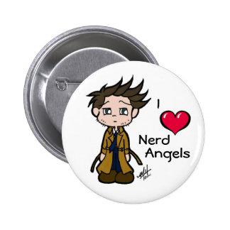 Love Nerd Angels Button