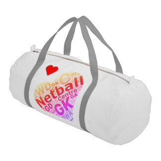 Love Netball and Positions Heart Design Gym Bag