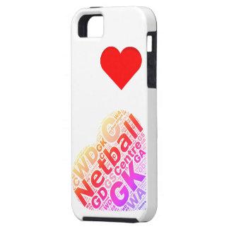 Love Netball Heart Design iPhone 5 Cases