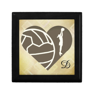 Love Netball Heart Design Personalised Gift Box