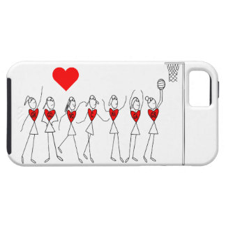 Love Netball Positions and Heart Design iPhone 5 Cases