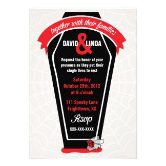 Love Never Dies Halloween Wedding Invitation