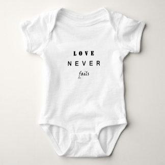 Love Never Fails Baby Bodysuit