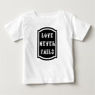 Love Never Fails Baby Fine Jersey T-Shirt