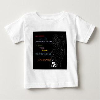 Love Never Fails Baby T-Shirt