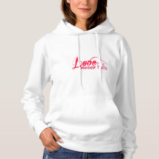 Love Never Fails Bible Quote Weddings Hoodie