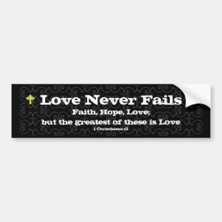 Love Never Fails Christian Auto Sticker