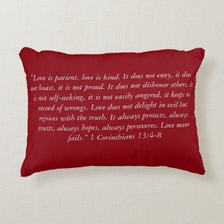 """Love Never Fails Complete Verse"" Scripture Pillow"