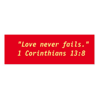 """""""Love Never Fails"""" Little Notes Pack Of Skinny Business Cards"""