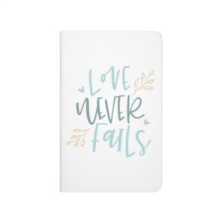 Love Never Fails Pocket Journal