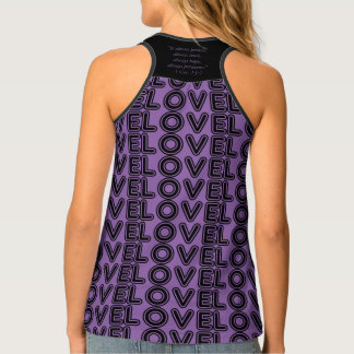 LOVE NEVER FAILS TWO CATS SINGLET
