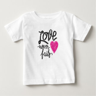 love never fails, vintage heart baby T-Shirt