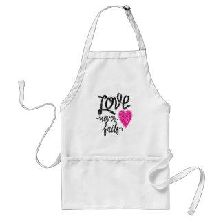 love never fails, vintage heart standard apron