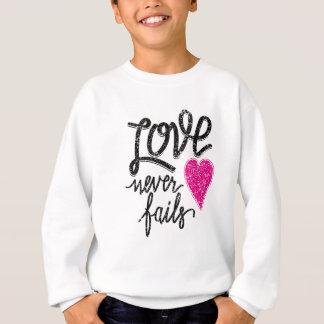 love never fails, vintage heart sweatshirt
