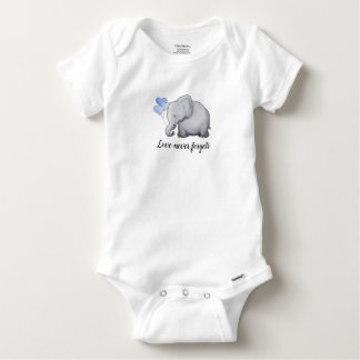 Love Never Forgets Adorable Balloon Elephant Baby Onesie