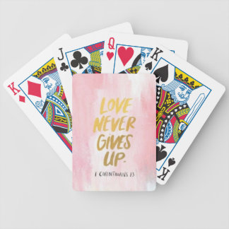 Love Never Gives Bicycle Playing Cards