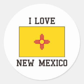 Love New Mexico Classic Round Sticker