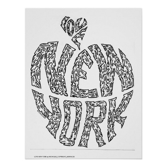 LOVE NEW YORK by NICHOLAS_COPYRIGHT_MIN... Poster