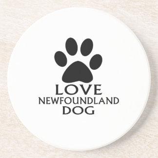 LOVE NEWFOUNDLAND DOG DESIGNS COASTER