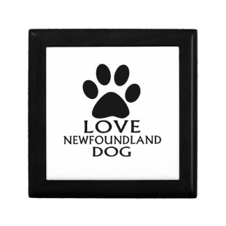 LOVE NEWFOUNDLAND DOG DESIGNS GIFT BOX