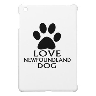 LOVE NEWFOUNDLAND DOG DESIGNS iPad MINI CASE