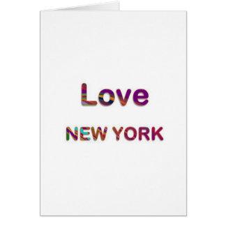 LOVE NewYork NEW York Greeting Card