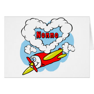 Love Nonno Kids Airplane Card