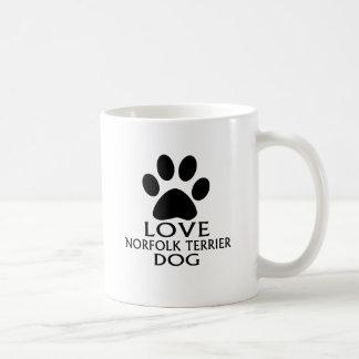LOVE NORFOLK TERRIER DOG DESIGNS COFFEE MUG