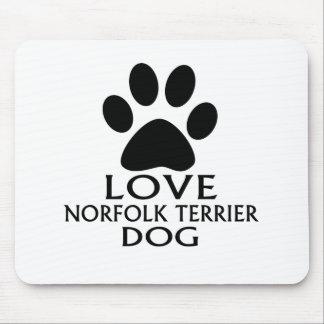 LOVE NORFOLK TERRIER DOG DESIGNS MOUSE PAD