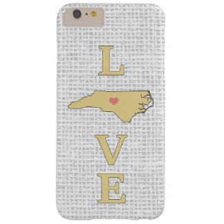 LOVE North Carolina State Map moveable heart Barely There iPhone 6 Plus Case