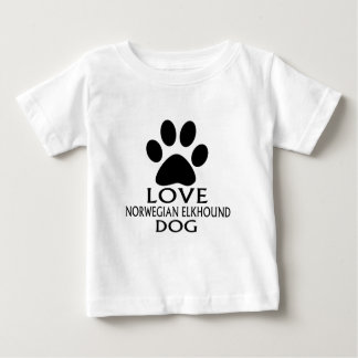 LOVE NORWEGIAN ELKHOUND DOG DESIGNS BABY T-Shirt