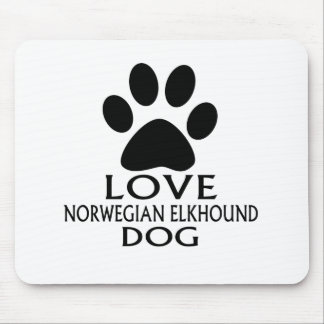 LOVE NORWEGIAN ELKHOUND DOG DESIGNS MOUSE PAD
