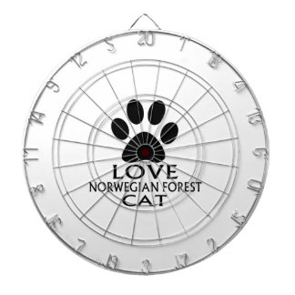 LOVE NORWEGIAN FOREST CAT CAT DESIGNS DARTBOARD