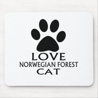 LOVE NORWEGIAN FOREST CAT CAT DESIGNS MOUSE PAD