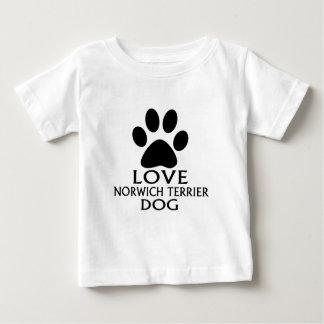 LOVE NORWICH TERRIER DOG DESIGNS BABY T-Shirt