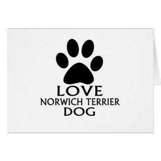 LOVE NORWICH TERRIER DOG DESIGNS CARD