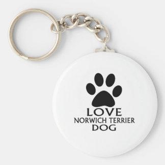 LOVE NORWICH TERRIER DOG DESIGNS KEY RING