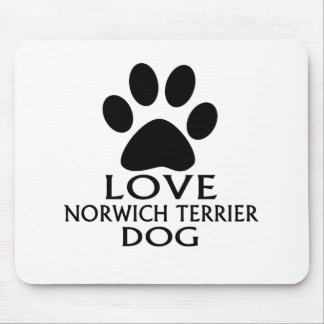 LOVE NORWICH TERRIER DOG DESIGNS MOUSE PAD
