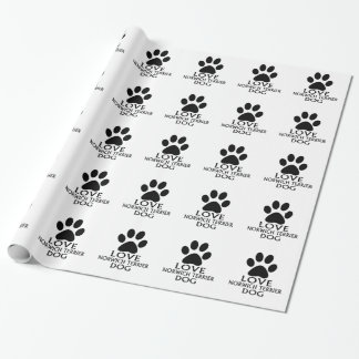 LOVE NORWICH TERRIER DOG DESIGNS WRAPPING PAPER