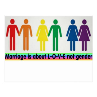 Love not gender postcard