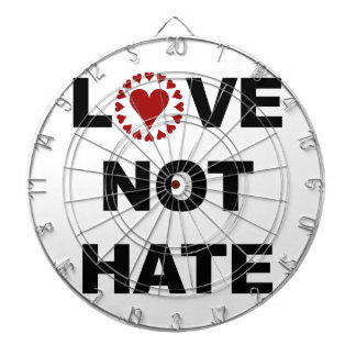 LOVE NOT HATE DARTBOARD