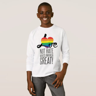 Love Not Hate (Rainbow) Boy's Long Sleeve T-Shirt