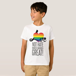 Love Not Hate (Rainbow) Boy's T-Shirt
